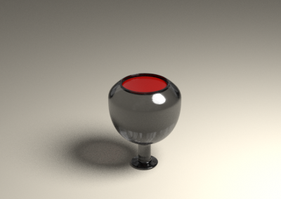 Ball To Wine Glass Animation
