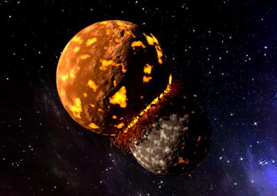 Planet Collision Animation